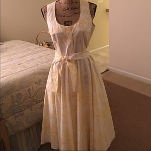 "J. Peterman ""Toile de Jouy"" Summer Dress - 8"